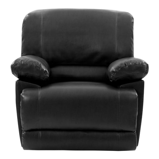 Plush Power Reclining Bonded Leather Recliner with USB Port