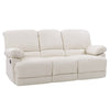 Lea Plush Reclining Bonded Leather Sofa with Fold-Down Console and Cupholders