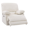 Lea Plush Power Reclining Bonded Leather Recliner with USB Port