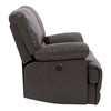 Lea Plush Power Reclining Bonded Leather Loveseat with USB Port