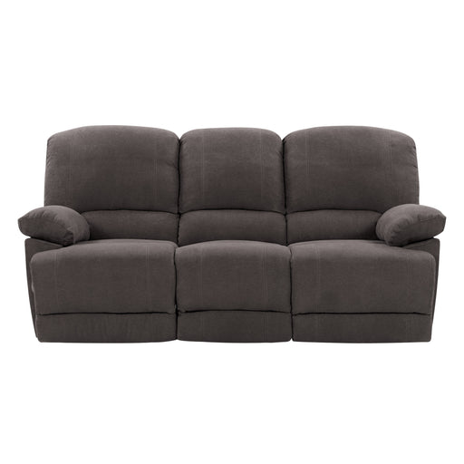 Lea Plush Reclining Chenille Fabric Sofa with Fold-Down Console and Cupholders