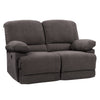 Lea Plush Power Reclining Chenille Fabric Loveseat with USB Port