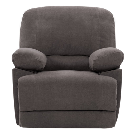 Plush Power Reclining Chenille Fabric Recliner with USB Port