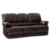 Lea Plush Power Reclining Bonded Leather Sofa with Fold-Down Console and Cupholders with USB Port