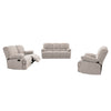 Lea Plush Reclining Chenille Fabric Sofa Set 3pc