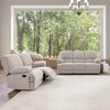 Lea Plush Reclining Chenille Fabric Sofa Set 2pc