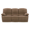 Lea Plush Power Reclining Chenille Fabric Sofa Set with USB Ports 2pc