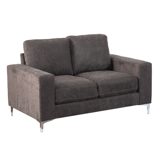 "Cory Chenille Fabric Loveseat - <body><p style=""color:#ED1C24"";>*CLEARANCE - Final Sale*</p></body>"
