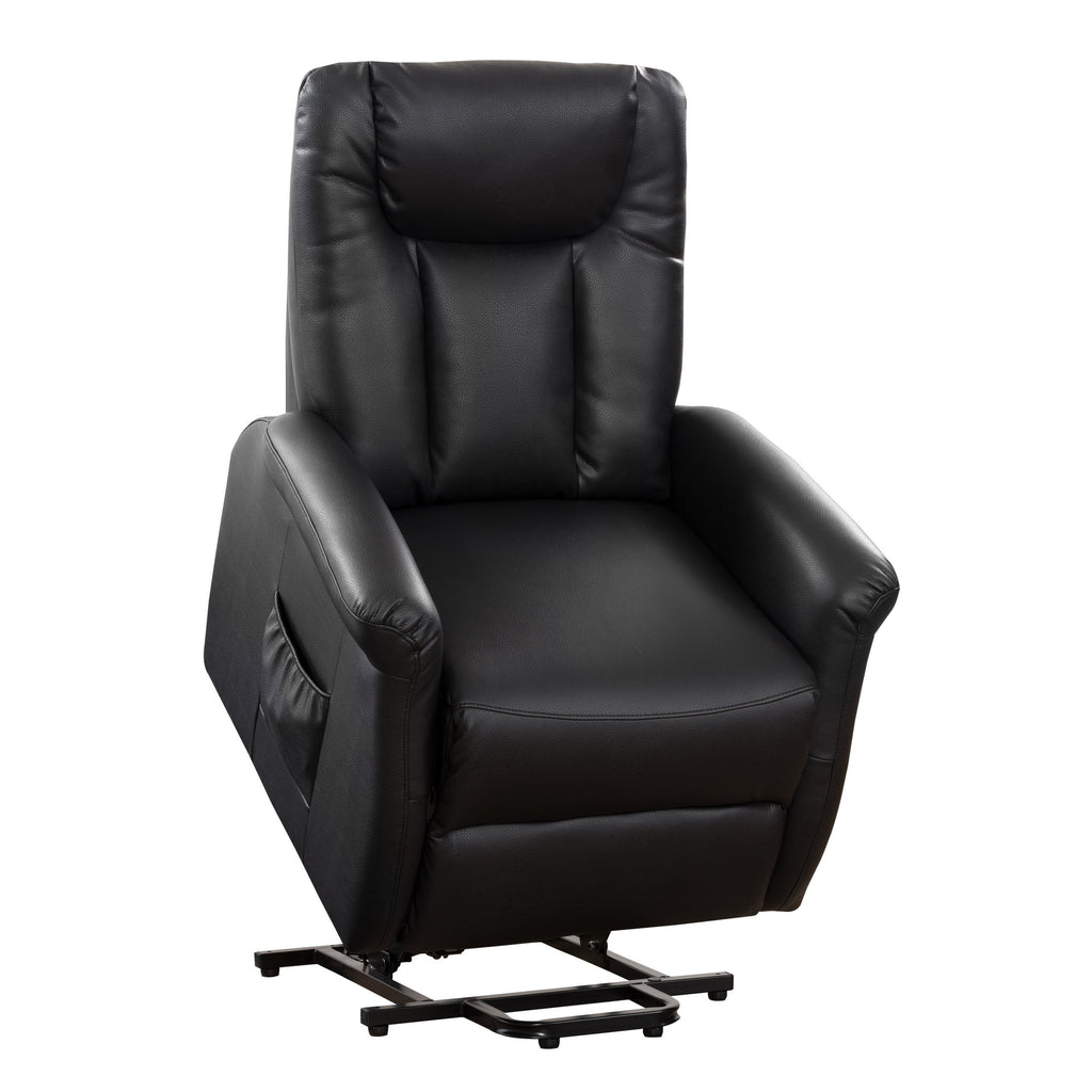 Power Lift & Rise Recliner, Black Leather Gel