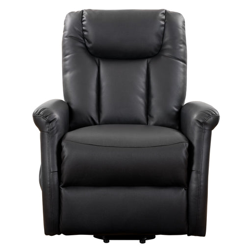 Arlington Power Lift & Rise Recliner, Black Leather Gel