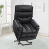 Dallas Power Lift Assist Recliner, Black Leather Gel