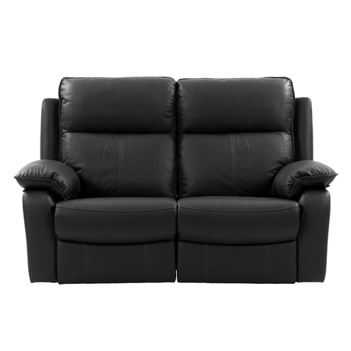 Genuine Leather Recliner Loveseat with Detail Stitching