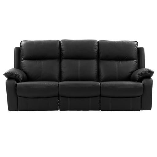 Genuine Leather Recliner Sofa with Detail Stitching *CLEARANCE - Final Sale*