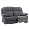 Ultra Soft Fabric Recliner Loveseat with Detail Stitching, Medium Grey