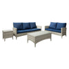 Parkview Wide Rattan Wicker Sofa and Loveseat Patio Set 4pc