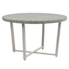 Wide Rattan Wicker Patio Dining Table with Glass Inset Table Top