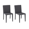 Rattan Wicker Dining Chairs Set of 2