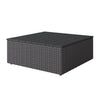 Brisbane Weather Resistant Resin Wicker Square Patio Coffee Table