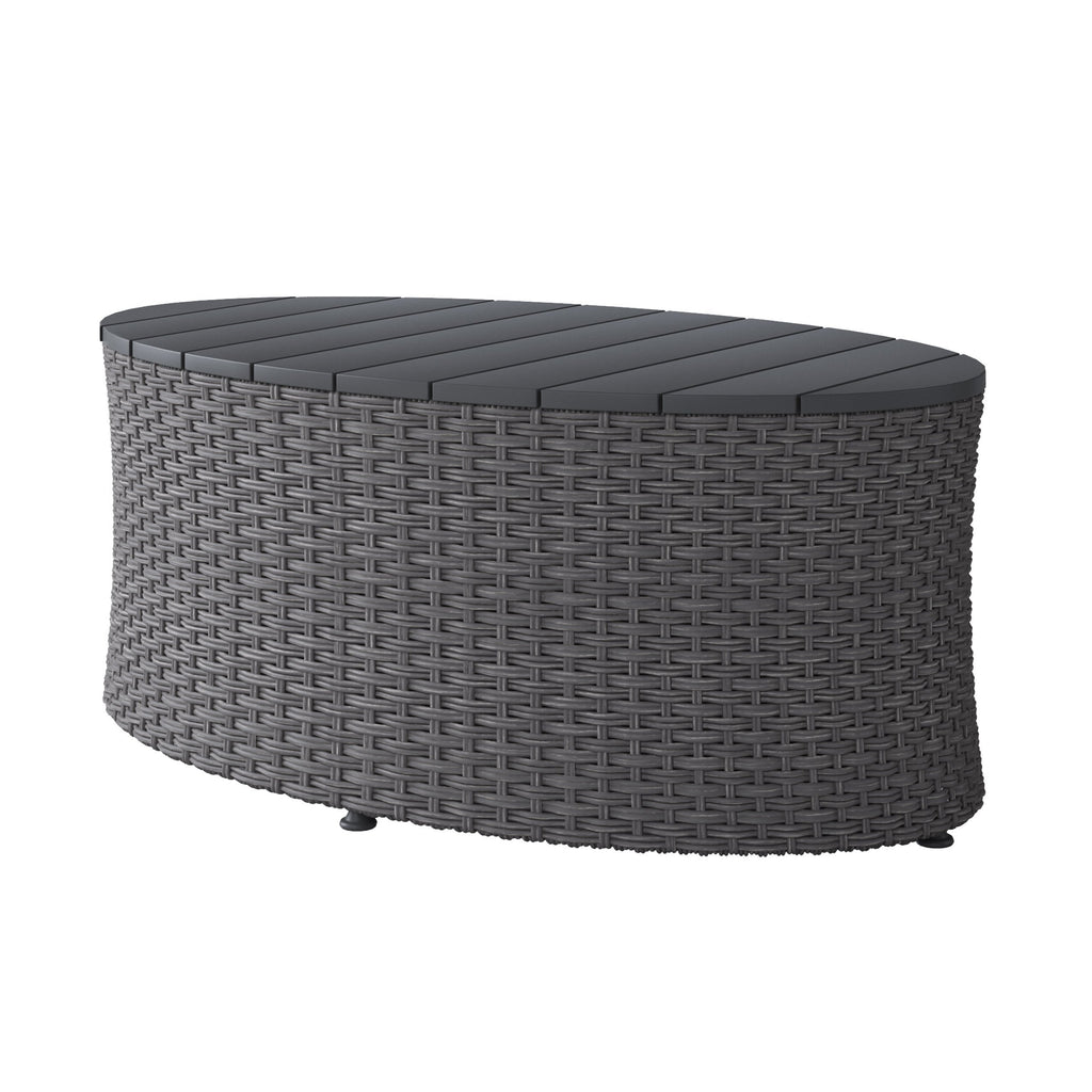 Weather Resistant Oval Patio Coffee Table