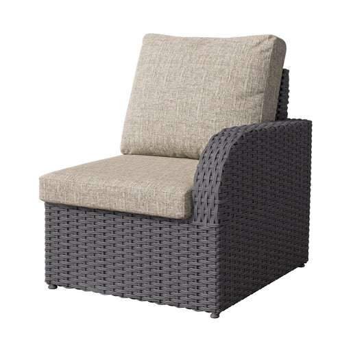 Weather Resistant Resin Wicker Right Arm Patio Chair