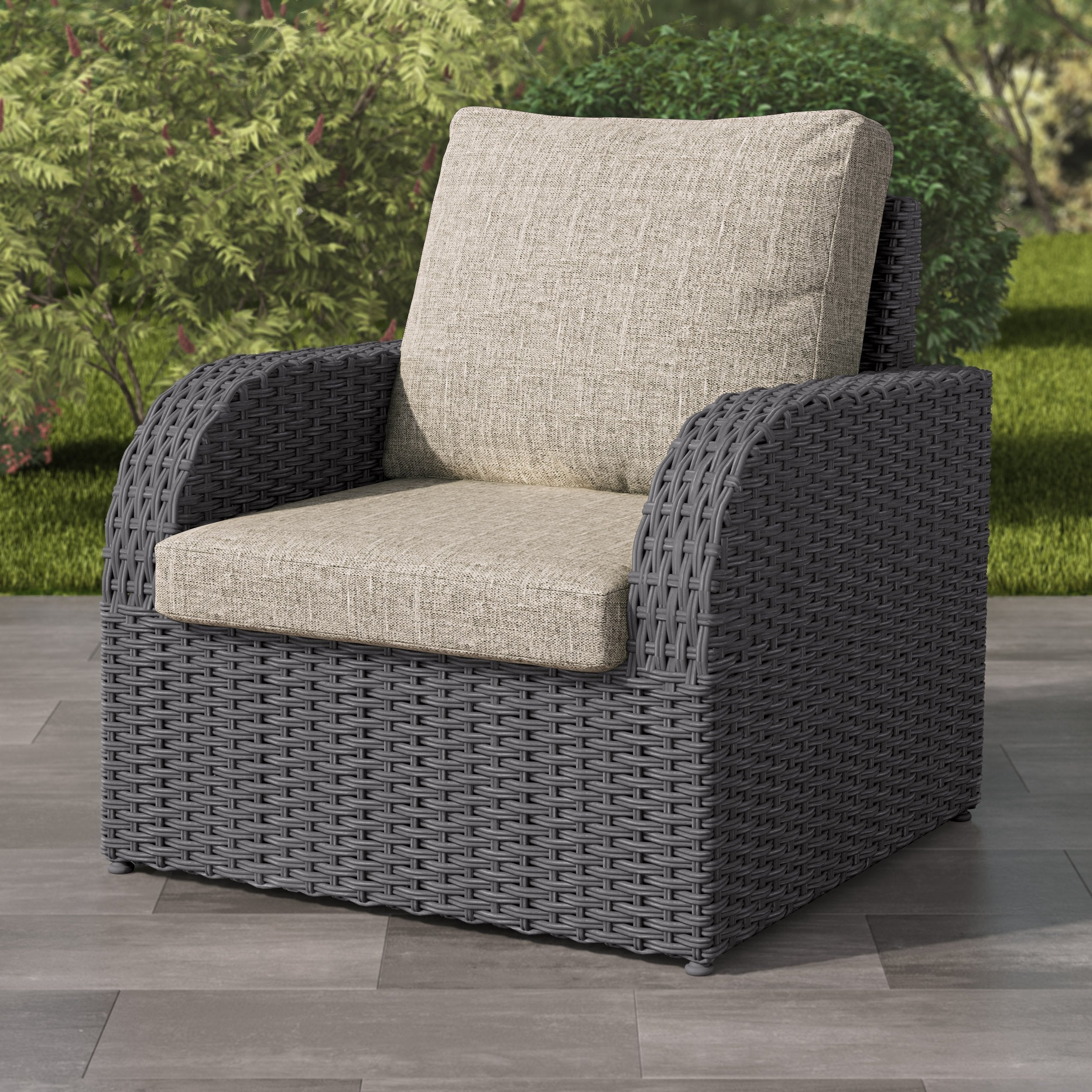weather resistant resin wicker patio chair corliving clearance rh corclearance ca wicker patio chairs on sale wicker patio chairs with ottoman