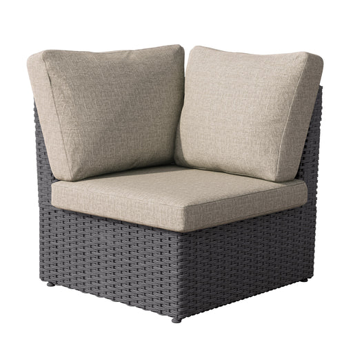 Brisbane Weather Resistant Resin Wicker Corner Patio Chair