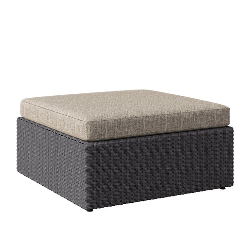Weather Resistant Resin Wicker Oversized Ottoman