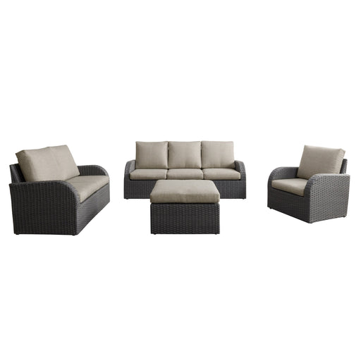 7pc Weather Resistant Sofa, Loveseat and Chair Set with Ottoman