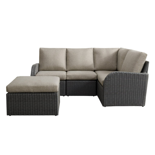 5pc Weather Resistant Corner Sectional with Ottoman