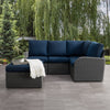 Brisbane Weather Resistant Corner Sectional with Ottoman 5pc