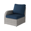 Weather Resistant Resin Wicker Left Arm Patio Chair