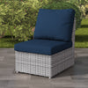 Brisbane Weather Resistant Resin Wicker Armless Patio Chair