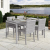 Brisbane Outdoor Dining Set with Dining Chairs 5pc