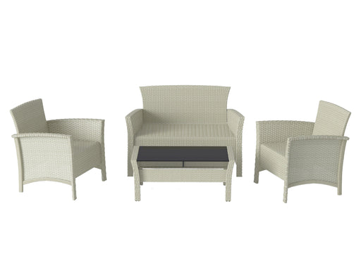 Cascade Wicker Rattan Grey 4pc Patio Set - Frame Only- *CLEARANCE - Final Sale*