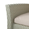 Cascade 4pc Grey Resin Rattan Wicker Patio Set with Cushions