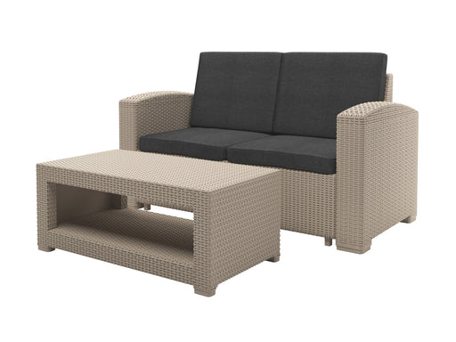 Adelaide All-Weather Loveseat Patio Set 2pc