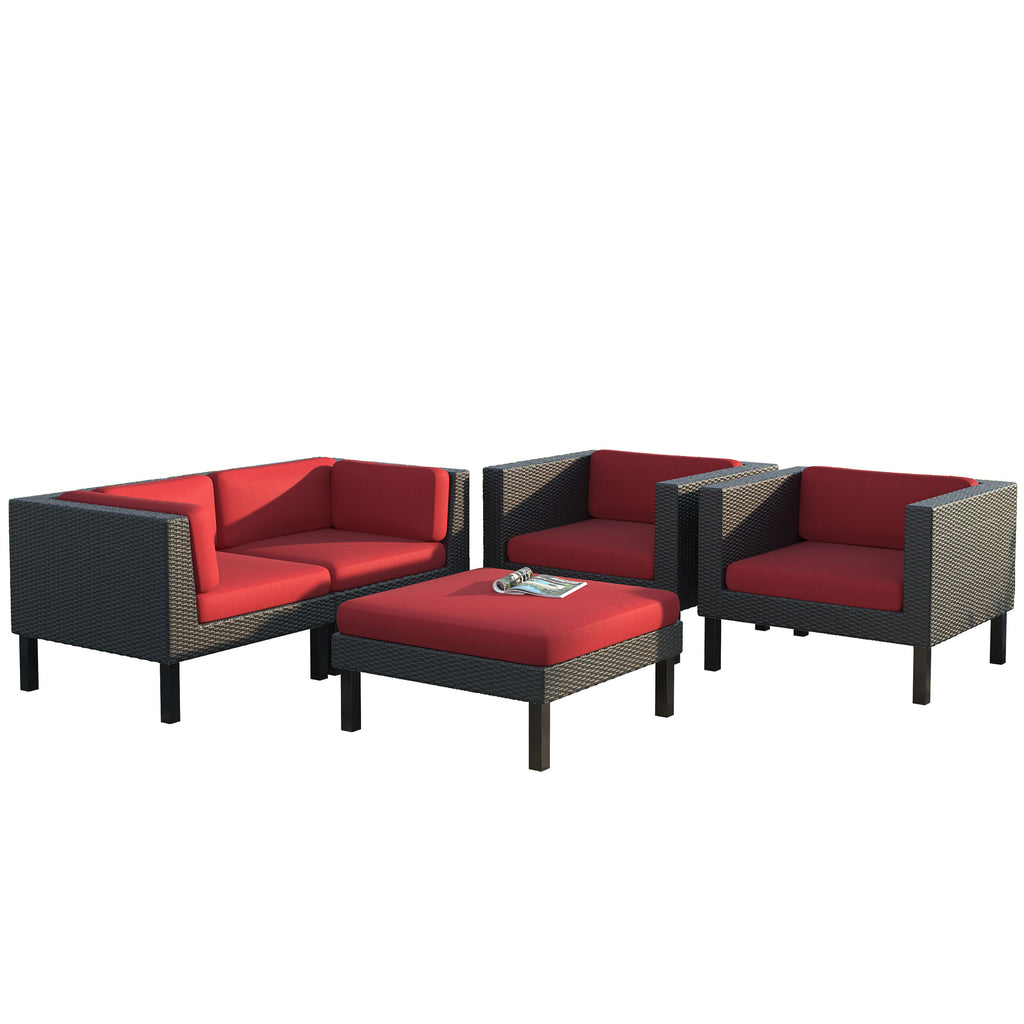 Oakland Sofa and Chair Patio Set 5pc