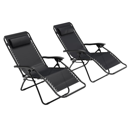 Riverside Textured Zero Gravity Patio Lounger Set of 2 - *CLEARANCE*