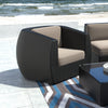 Patio Chair in Textured Black Weave - *CLEARANCE*
