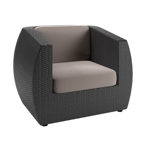 Seattle Patio Chair in Textured Black Weave - *CLEARANCE*