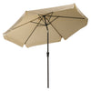 Round Tilting Patio Umbrella with Round Umbrella Base