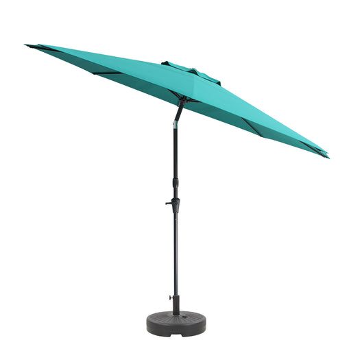UV Resistant Tilting Patio Umbrella with Steel-Lined Attachment Base *SHIPS By 6/18/21*