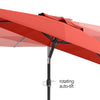 UV Resistant Tilting Patio Umbrella with Steel-Lined Attachment Base *SHIPS By 4/20/21*