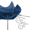 10ft Wide Tilting Patio Umbrella