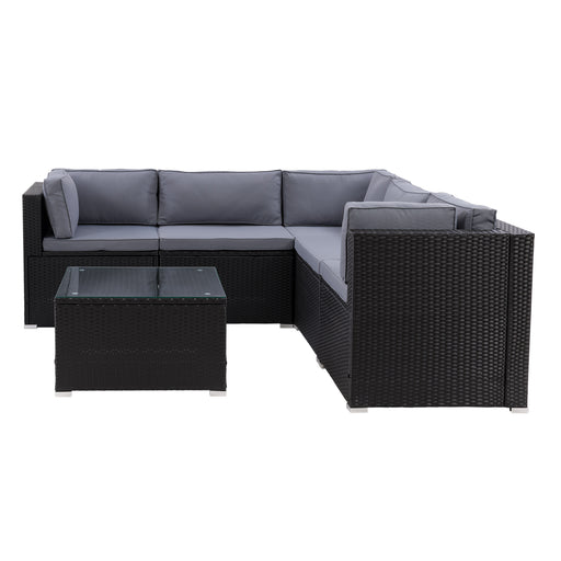 Parksville Patio Sectional Set 6pc - *SHIPS By 4/17/21*