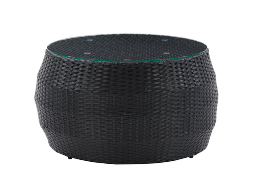 Parksville Black Rattan Round Coffee Table