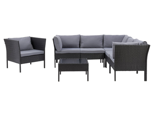 Parksville L-Shaped Patio Sectional Set with Chair 7pc