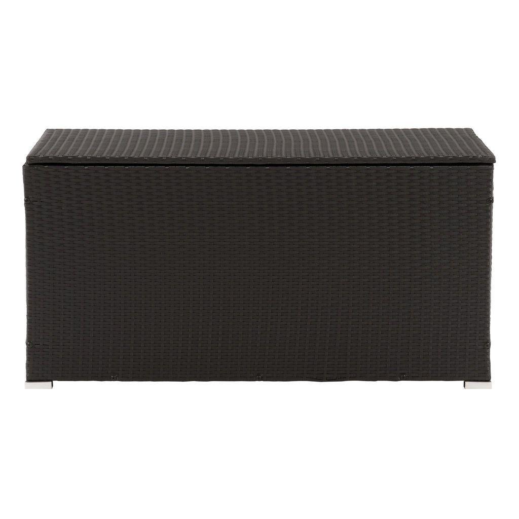 Parksville Patio Cushion Box - Black Finish/Ash Grey Liner