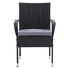 Parksville Patio Armchair Set Stackable - Black Finish/Ash Grey Cushions 2pc