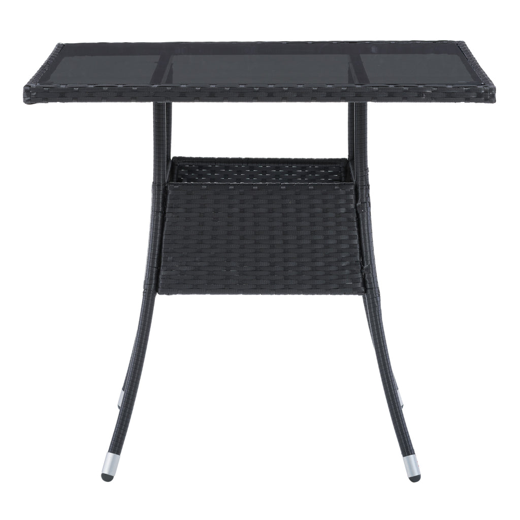 Parksville Patio Dining Table Square - Black Finish